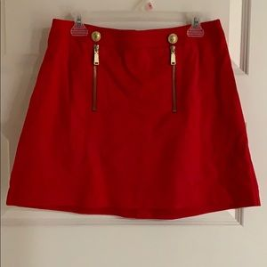 NWT! Sexy red mini skirt! W/Inner shell lining.